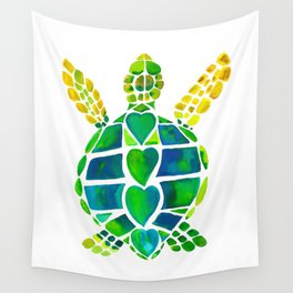 Turtle Love Wall Tapestry