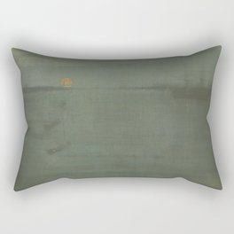 Nocturne - Blue and Gold - Southampton Water Rectangular Pillow