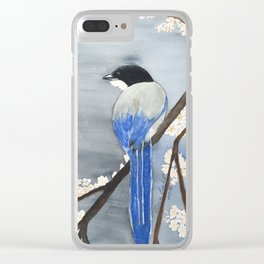 Blue Magpie Clear iPhone Case