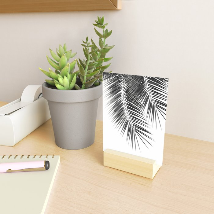 Black Palm Leaves Dream - Cali Summer Vibes #2 #tropical #decor #art #society6 Mini Art Print