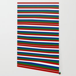gambia flag stripes Wallpaper