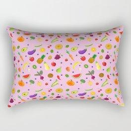 Fruit and Veggie Pattern Rectangular Pillow