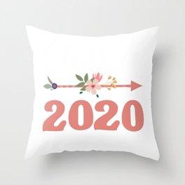 Flower Class of 2020 High School freshman Daughter Throw Pillow