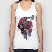 thor Tank Tops featuring Thor by Isaak_Rodriguez