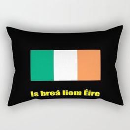 flag of ireland 8 -ireland,eire,airlann,irish,gaelic,eriu,celtic,dublin,belfast,joyce,beckett Rectangular Pillow
