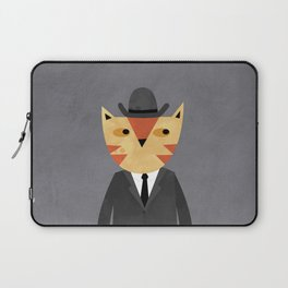 Ginger Cat in a Bowler Hat Laptop Sleeve
