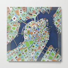 city map Metal Print