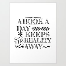 A Book A Day... Art Print