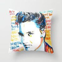 elvis Throw Pillows featuring Elvis by Phil Fung