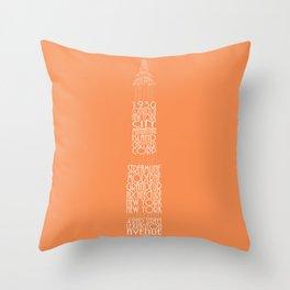 Chrysler Buidling Orange Throw Pillow