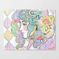 shabby chic Canvas Prints featuring Shabby Chic by Thea Maia