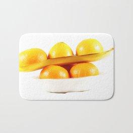 Orange banane Bath Mat