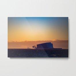 Sunset Iceberg Metal Print