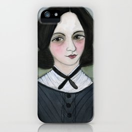 Emily Bronte and her Wuthering Heights iPhone Case