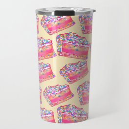 Birthday Cake - Yellow BG Travel Mug