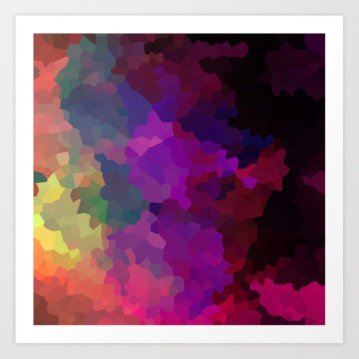 Multicolored abstract pattern . A firework of colors . Art Print