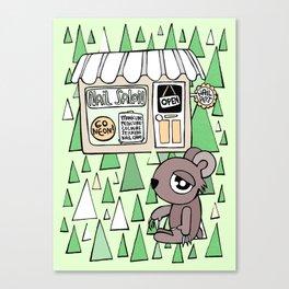 Nail Salon Bear Canvas Print