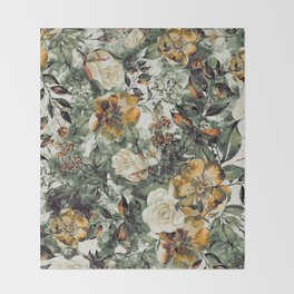 RPE FLORAL Throw Blanket