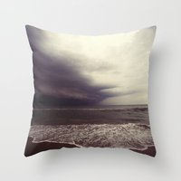 storm Throw Pillows featuring Storm by Neon Wildlife