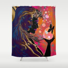 """Gossamer & Lotus Dream"" Shower Curtain"