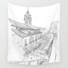 Medieval market Wall Tapestry