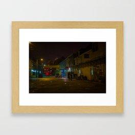 Port At Night, Portland, Maine Framed Art Print