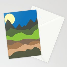 Green mountain tops Stationery Cards