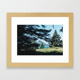 Hidden Mountain Framed Art Print