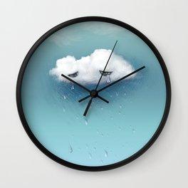 crying cloud Wall Clock
