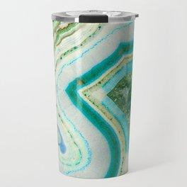 Sea Spray Crystal Agate Slice Travel Mug