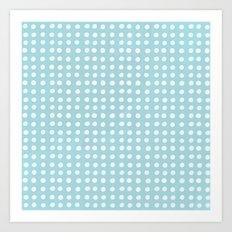 Blue Polka Pattern Art Print