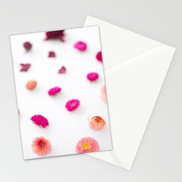 Rainbow flower pattern 2 Stationery Cards