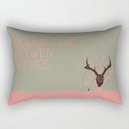 Killing Time Between Scenes Rectangular Pillow