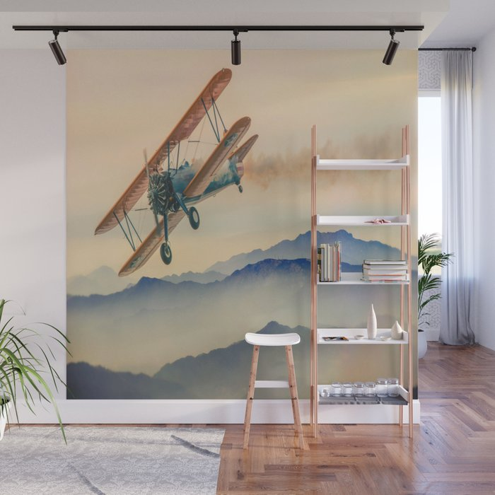 Aircraft Double Decker Oldtimer Wall Mural By Jani87 Society6
