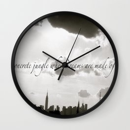 Now Your in New York, New York, New York  Wall Clock