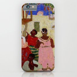 African American Masterpiece 'The Homecoming' by Pedro Figari Salari iPhone Case