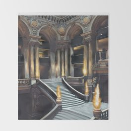 Magique Palais Garnier Throw Blanket