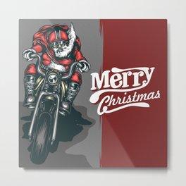 Merry Chirstmas Ride Metal Print