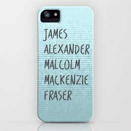 James Alexander Malcom Mackenzie Frazer iPhone Case