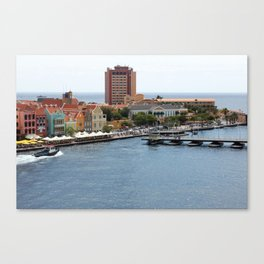 Busy Willemstad from Above Canvas Print