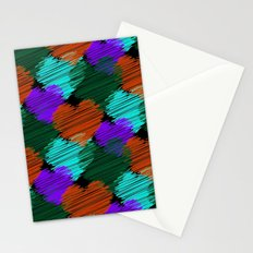 Colorful Hearts Noir Stationery Cards