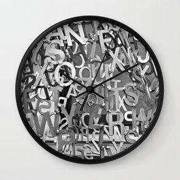 Alphabet Jumble Wall Clock