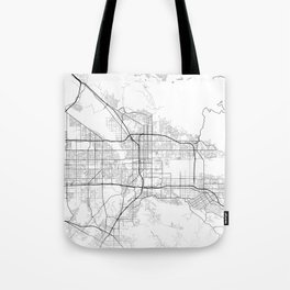 Minimal City Maps - Map Of San Bernardino, California, United States Tote Bag