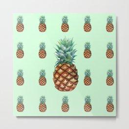 Pineapple Palooza Metal Print