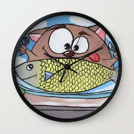 The Hippolyte cat Part#7 Wall Clock
