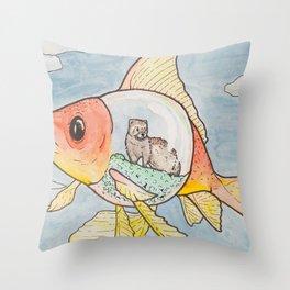 A Sketchy Situation Throw Pillow
