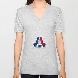 flag of Arlington Unisex V-Neck