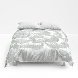 Silver Flower Comforters
