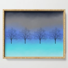 Abstract trees Serving Tray