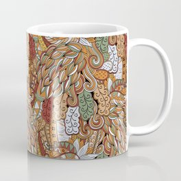 Stylized Boho Bulb Pattern Coffee Mug